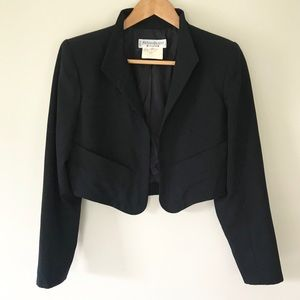YVES SAINT LAURENT Black Blazer Vintage 80's Retro